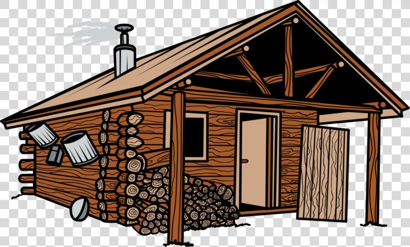 Shed Cottage House Facade Log Cabin, House PNG
