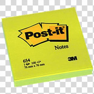 Post-it Note Yellow 3M Geel Brand - Post It Note PNG