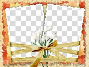 Picture Frames Flower - Wedding Floral Frame Romantic PNG