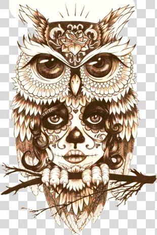 Owl Tattoo Drawing Body Art - Mystic Owl Tattoo PNG