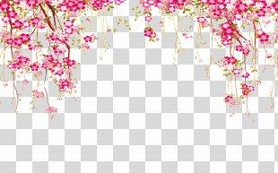 Euclidean Vector Flower - Flower Border PNG