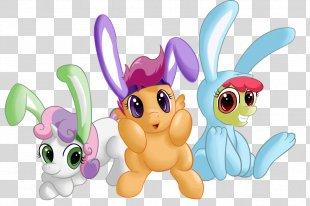 Easter Bunny Rabbit Bunnies And Rainbows Hare Avatar Dash! - Bunny Ears PNG