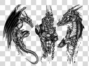 Sleeve Tattoo Black-and-gray Dragon Tattoo Artist - 3D Dragon Tattoo Design PNG