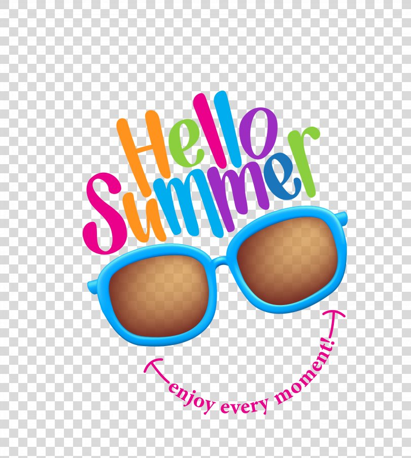 Summer Royalty-free Illustration, Vector Color Glasses Decorated Summer Time PNG