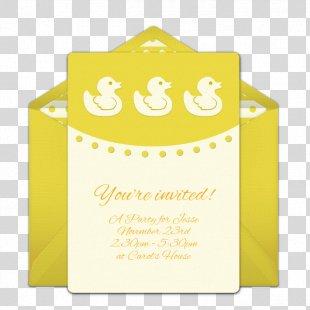 Paper Wedding Invitation Baby Shower Gender Reveal Online And Offline - Vintage Baby Shower Invite PNG