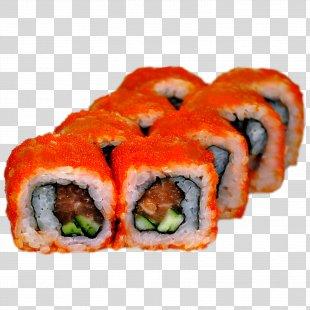 California Roll Sushi Makizushi Smoked Salmon Japanese Cuisine - Cucumber PNG