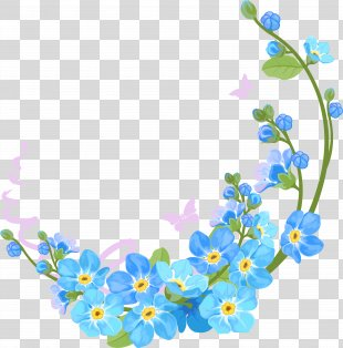 Borders And Frames Flower Clip Art - Vector Spring PNG