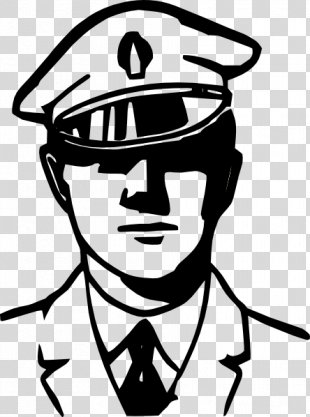 Police Officer Black And White Police Car Clip Art - Police Officer Outline PNG