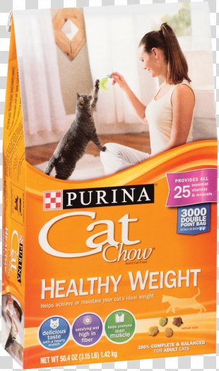 Cat Food Kitten Purina Cat Chow Healthy Weight Dry Food Purina One - Cat PNG