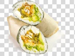 California Roll Sushi Burrito Vegetarian Cuisine Food - Sushi PNG