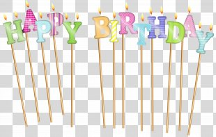 Happy Birthday To You Candle Clip Art - Happy Birthday Deco Candles Clip Art PNG
