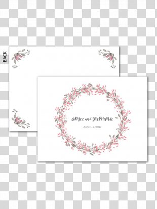 Wedding Invitation Wreath Watercolor Painting - Wedding Invitation Paper PNG