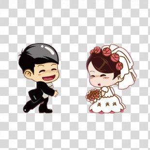 Wedding Invitation Bridegroom Marriage Cartoon - Cartoon Wedding Characters PNG