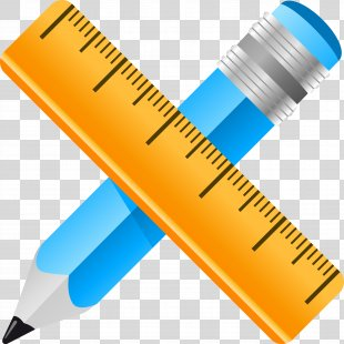 Straightedge Pencil Ruler - Ruler PNG