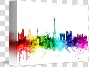Skyline Canvas Print De Stijl Artist - Skyline Paris PNG