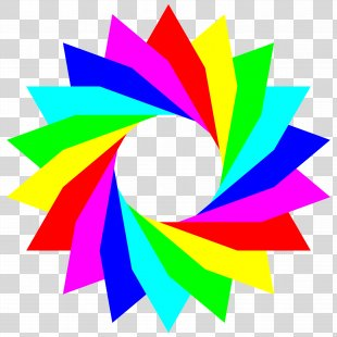 Rainbow Color Circle Clip Art - Rainbow PNG