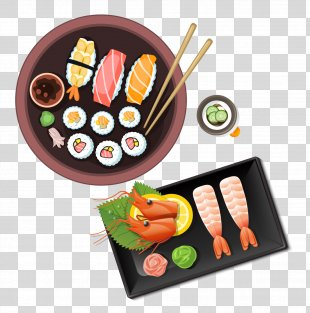 Sushi Japanese Cuisine Meal - Cartoon Japanese Cuisine PNG