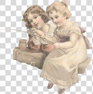 Vintage Victorian Era Child Clip Art - Vintage PNG