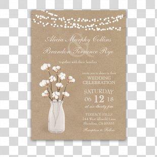 Wedding Invitation Paper Wedding Reception Cotton - Wedding Invitation PNG