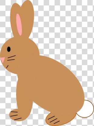 Domestic Rabbit Hare Clip Art Bugs Bunny - Brown Bunny Ears PNG