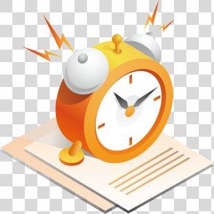 Alarm Clock Gold - Alarm Clock Vector Files PNG