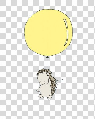 Paper Cartoon Text Yellow Illustration - Every Now And Then Hedgehog PNG