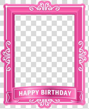 Birthday Cake Happy Birthday To You Clip Art - Happy Birthday Frame Pink Clip Art PNG