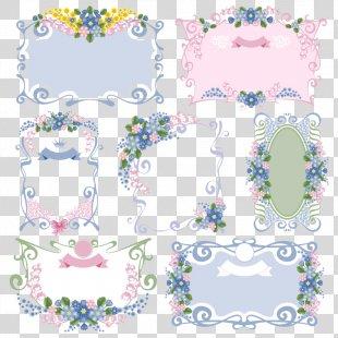 Flower Picture Frame Floral Design Vintage Clothing - 7 Of Retro Floral Border Vector Material PNG