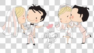 Wedding Invitation Bridegroom Illustration - Wedding Cartoon Characters PNG