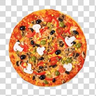 New York-style Pizza Vegetarian Cuisine Italian Cuisine Ham - Letinous Edodes Pizza PNG