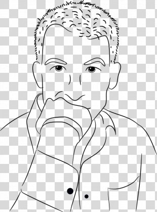 Thought Drawing Person Clip Art - Drawing For Thinking Person PNG