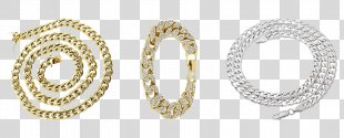 Chain Colored Gold Necklace Jewellery - Chain PNG